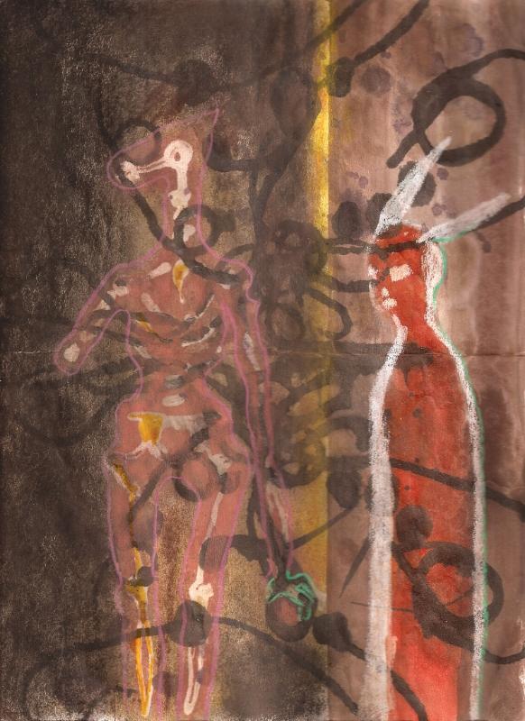 Rabbit Looks at Death,  2011, Mixed Media