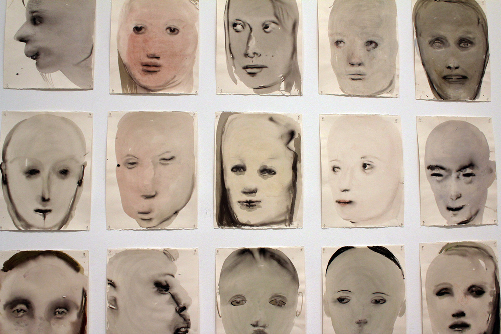"""Chlorosis (Love sick),"" 1994 (ink, gouache, and synthetic polymer paint on paper) by Marlene Dumas."