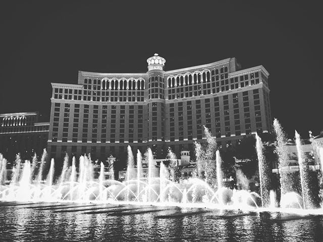 Fountain.  #LasVegas #Nevada #NV #Vegas #Bellagio #vegasbellagio #bellagiofountains #bellagiofountainshow #show #showtime #vegasshow #water #waterworks #watershow #vegasentertainment #iPhone #iPhone6 #iPhoneography #shotoniPhone #blackandwhite