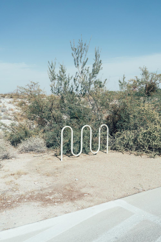 Convenient bike racks in the desert. :/