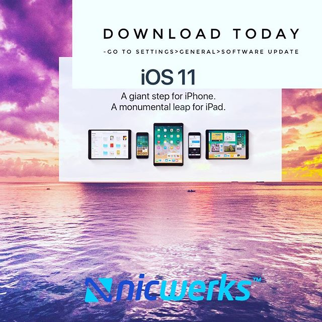 The iPhone 8 and the iPhone X come out in the next couple months but you can get iOS 11 today. Have fun. #mspESP #yourluckyday