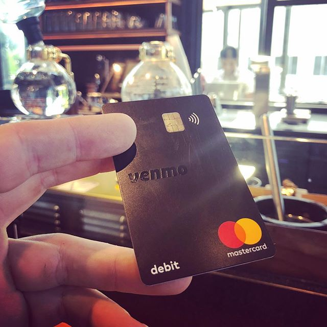 Cool @venmo debit card 💳 that reloads (optional feature) in $10 increments from your linked checking account when you're low on funds.  Added #securityfeatures allow you to disable the card if you misplace it through the Venmo app.  Loving the tap to pay 💰 NFC option.  And now, #coffee #nitrocoldbrew is the bomb