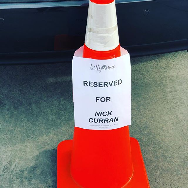 Thanks @bettymaecasting for my first ever reserved parking cone!