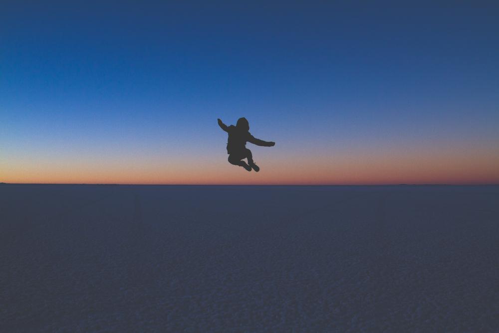 Jumping through the air