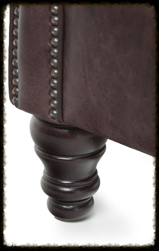 The stuff of legends; turned wooden legs and stud detailing
