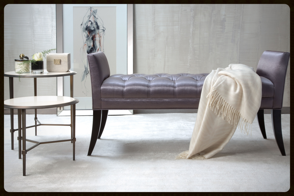 Featured: The Deena bench & Emblem side tables