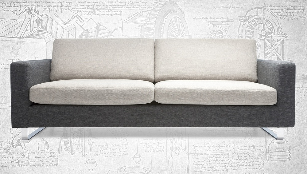 Da Vinci is a triumph of form and function; fusing contemporary chic with decadent comfort. The sofa sits upon chromium plated sled legs for a bold and striking look, juxtaposed by the generous bolster cushions and sumptuous feather and down padding. A must have piece for design purists; footstools, armchairs and corner units are also available.