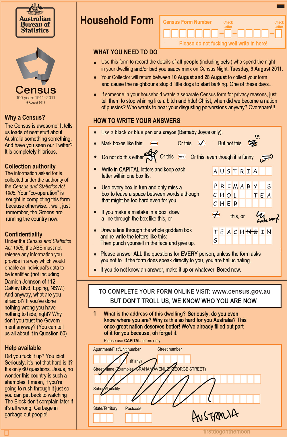 Your 2011 Census Form Explained