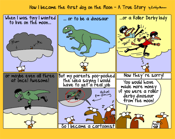 A True Story of  First Dog on the Moon