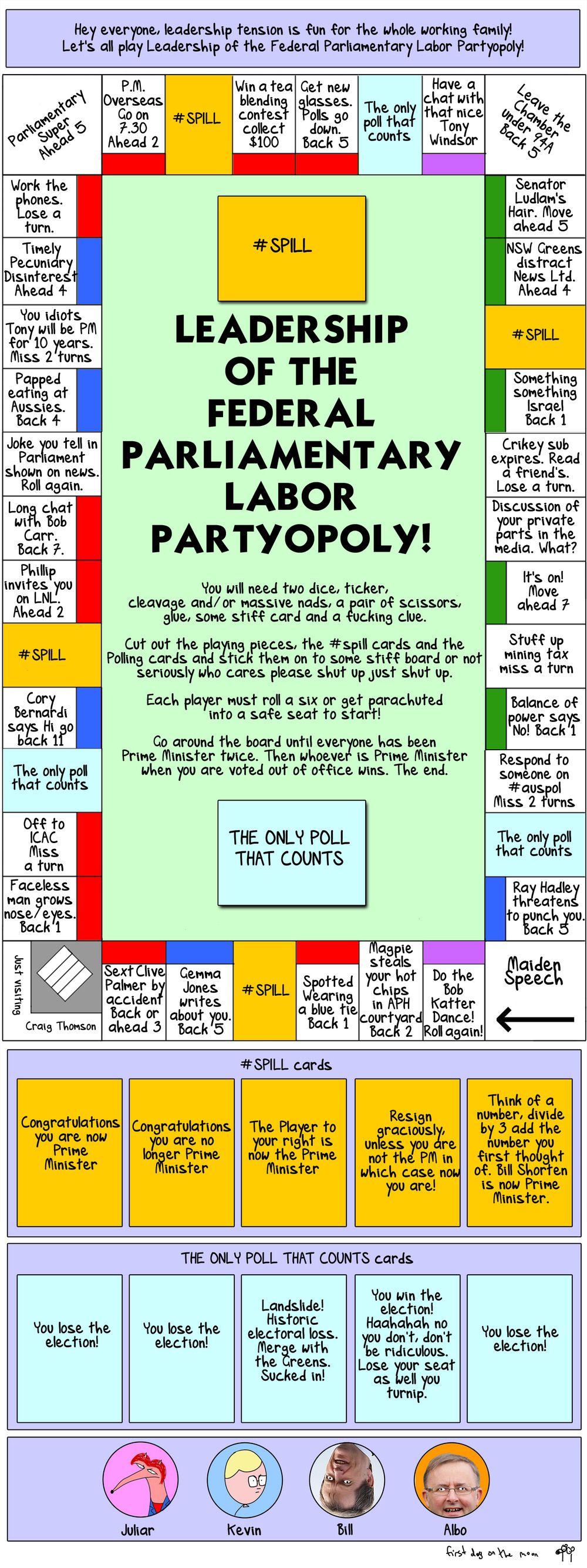 Hey kids, let's play Leadership Speculationopoly!