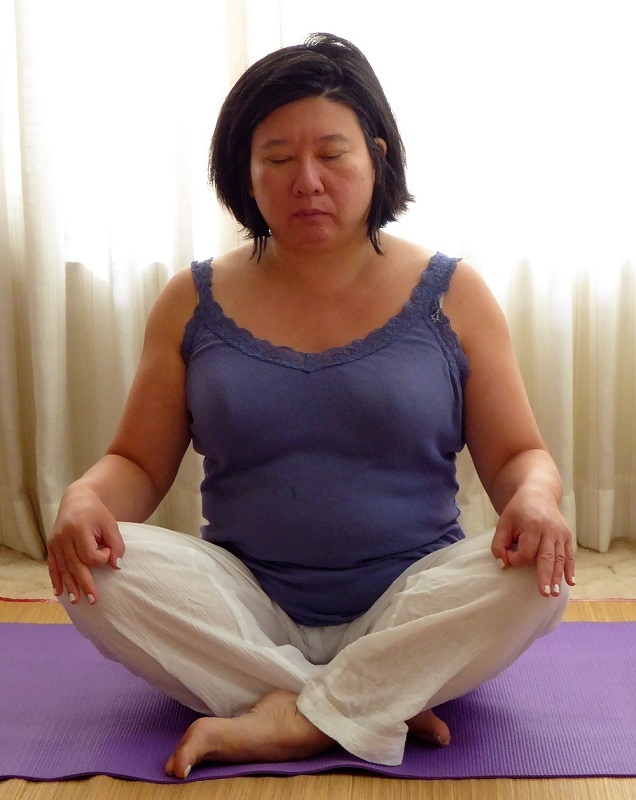 Cross-legged seated pose