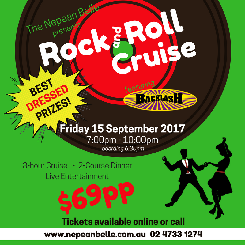Rock and roll dinner cruise nepean belle penrith