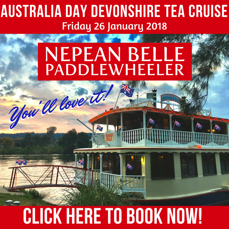 Morning Tea Cruise Nepean Belle Sydney Penrith Australia Day
