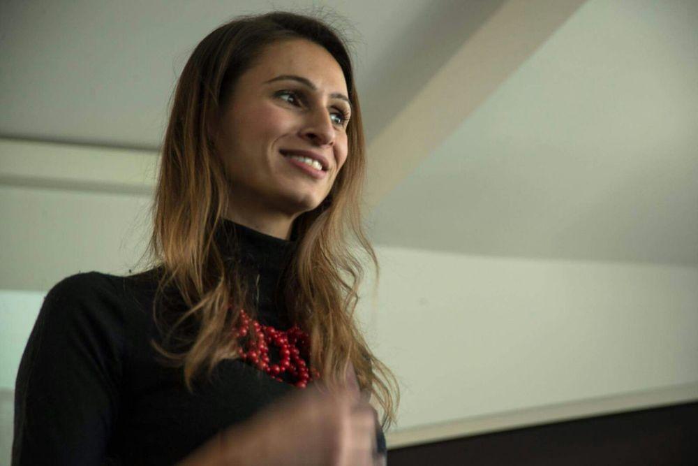 MentorMe Gründerin Karin Heinzl bei einem ProjectTogether Event in Berlin