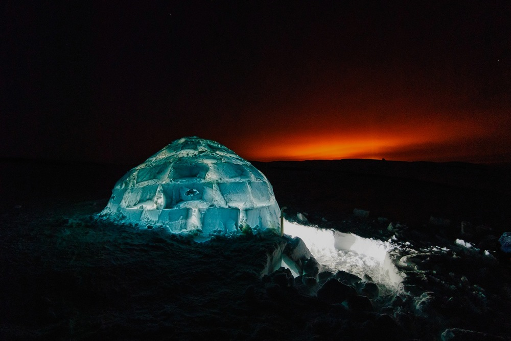 Igloo at Night - Nunavik, Canadian Arctic