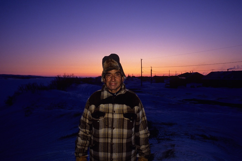 Cree Elder in Whapmagoostui, Nunavik, Canadian Sub-Arctic