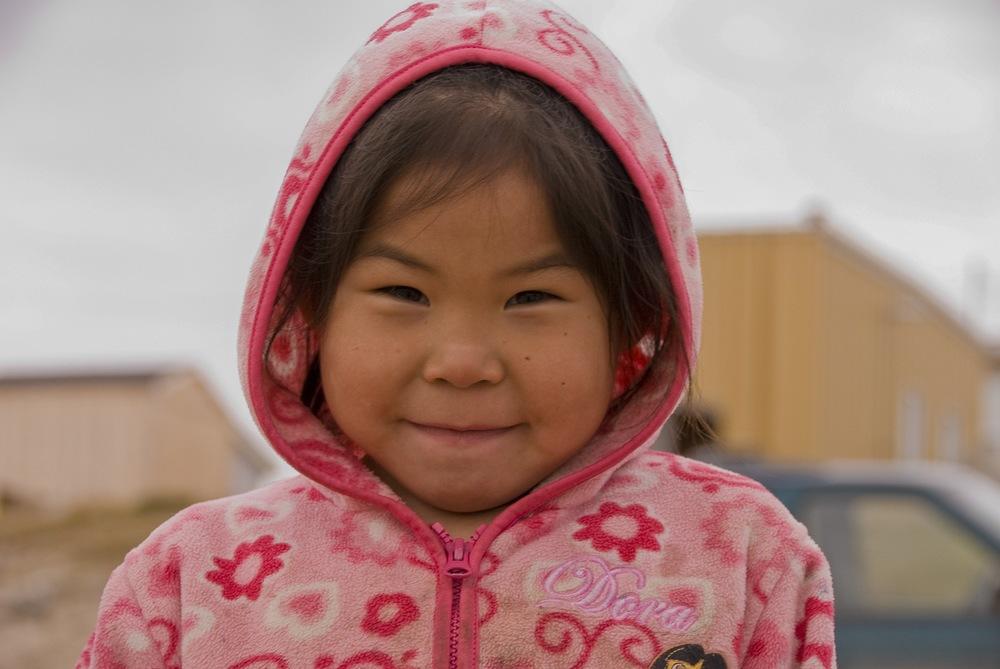 Young Inuit Girl - Qikiqtarjuaq, Nunavut, Canadian Arctic