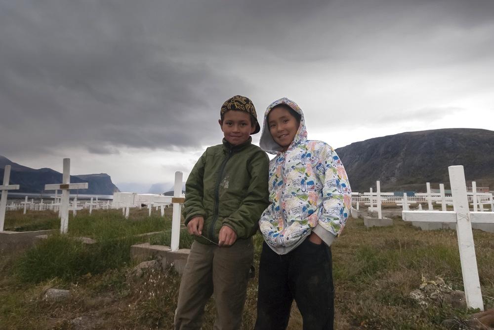 Davis and Tommy - Pangnirtung, Nunavut, Canadian Arctic