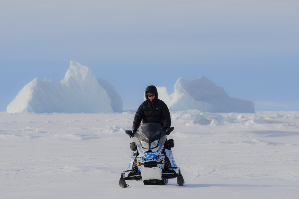 Stephen Gorman on Expedition on the Sea Ice in the High Arctic off the Coast of Bylot Island, 74 Degrees North, Canadian Arctic