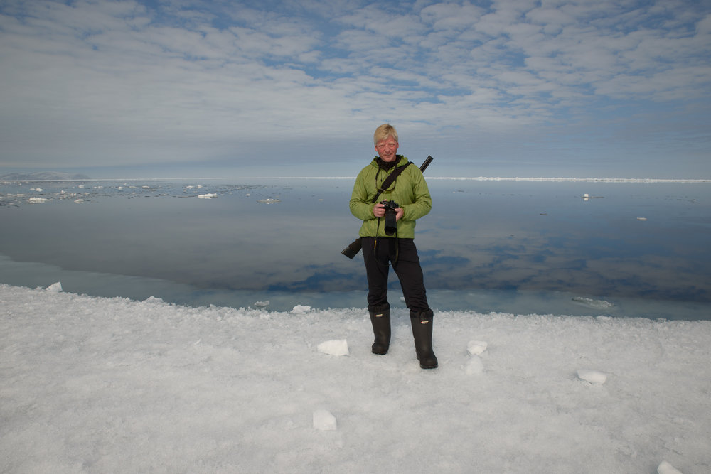 Stephen Gorman on expedition in polar bear country in Baffin Bay.