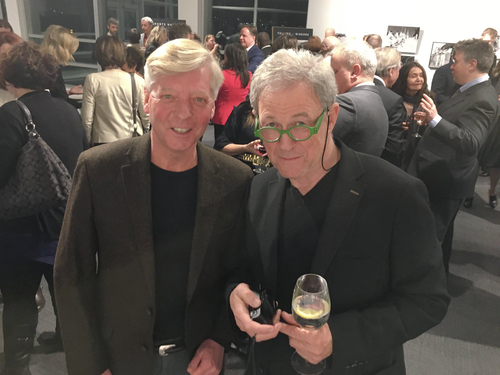 Stephen Gorman and legendary Canadian photographer Yuri Dojc at the reception.