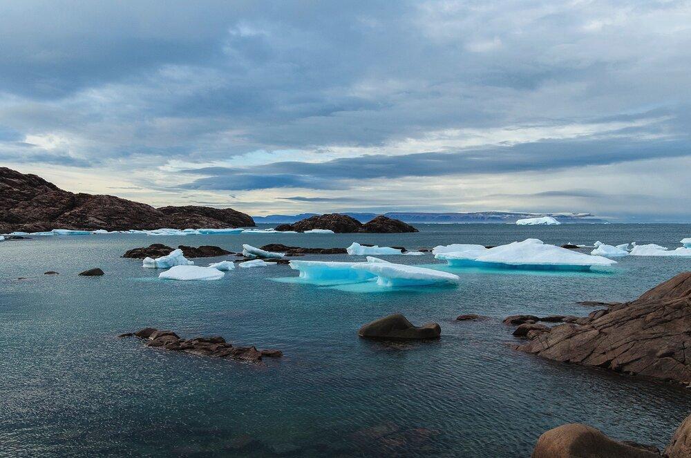 Stranded Bergy Bits - Cape Sabine, Ellesmere Island, Nunavut, Canadian Arctic