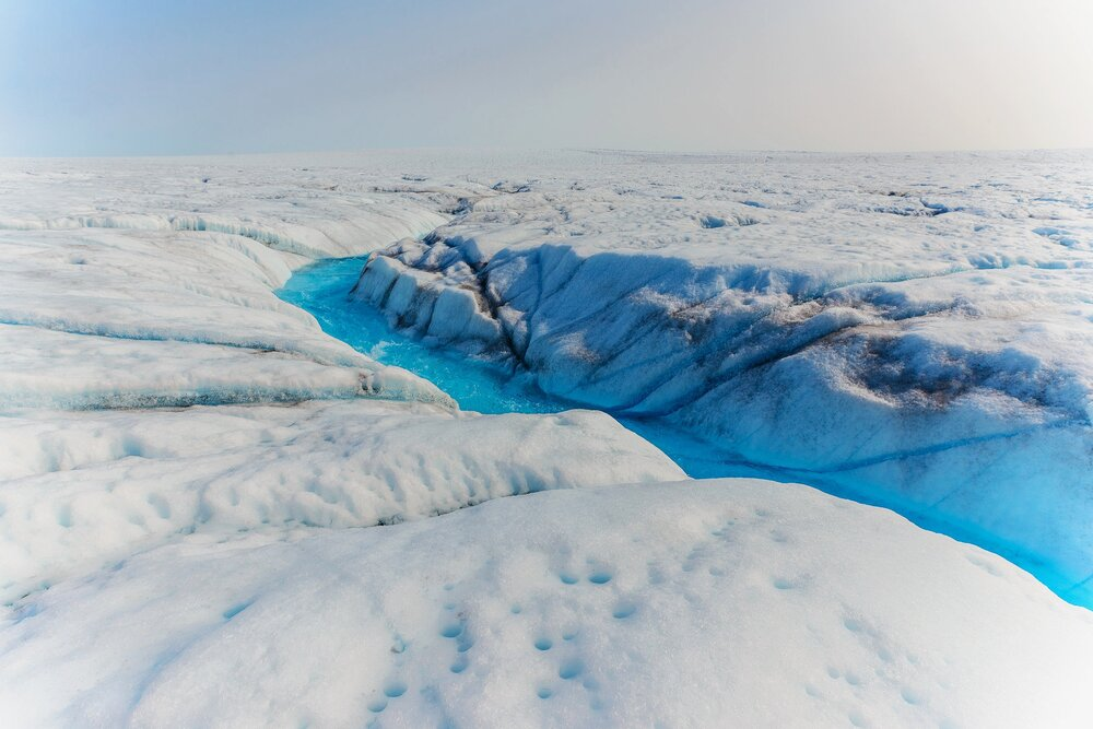 Meltwater Stream on the Greenland Ice Sheet - Greenland