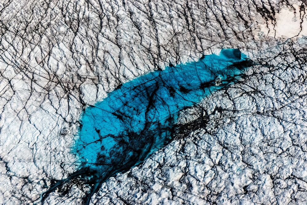 Meltwater Lake - Greenland Ice Sheet, Greenland