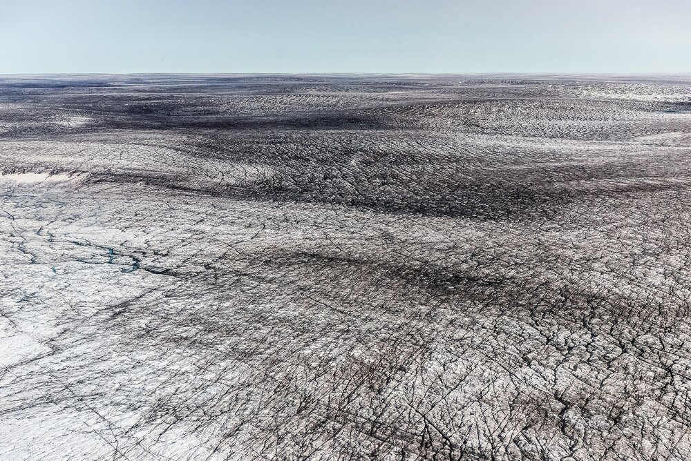 Dark Ice Covered With Soot and Dust - Greenland Ice Sheet, Greenland