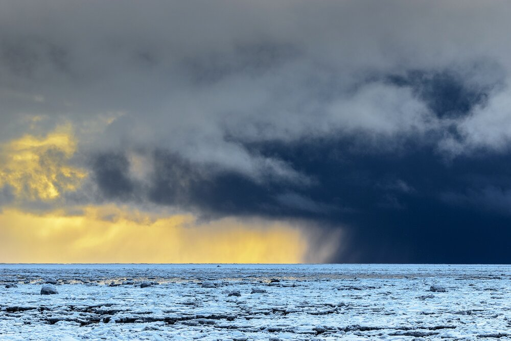 Approaching Snow Storm - Northern Hudson Bay, Nunavut, Canadian Arctic