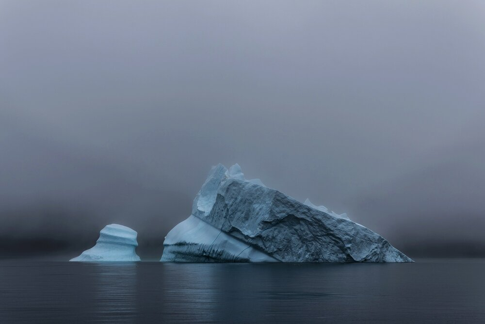 Iceberg in the Morning Mist