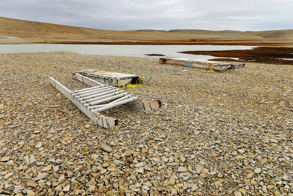 Komatics Waiting For Winter - Resolute, Nunavut, Canadian Arctic