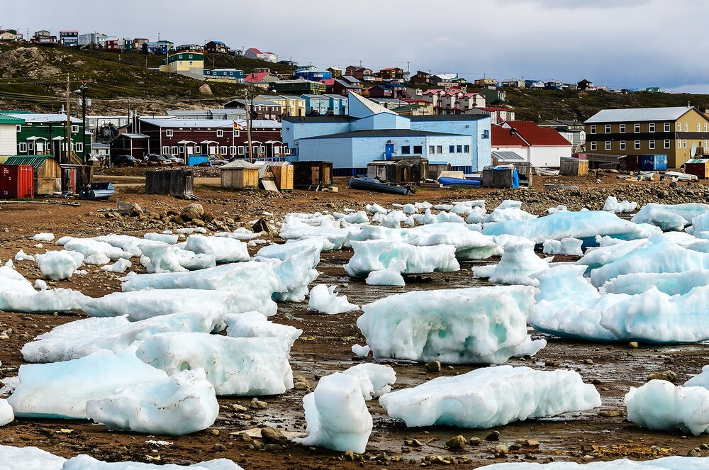 Ice Growlers on the Beach - Iqaluit, Nunavut, Canadian Arctic