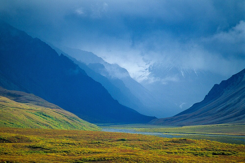 Receding Ridgelines - Alaska Range, Alaska
