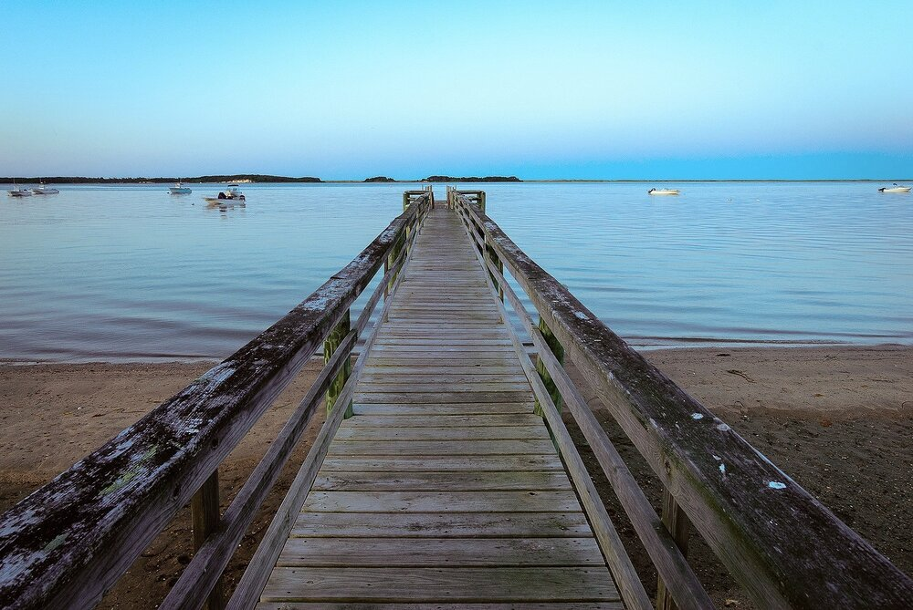 The Dock at Pleasant Bay, Cape Cod, Massachusetts