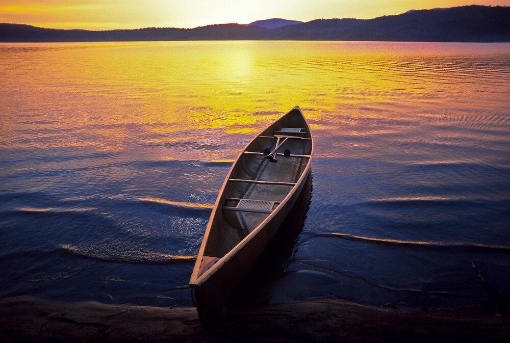 Canoe at Long Lake - Adirondack Mountains, New York