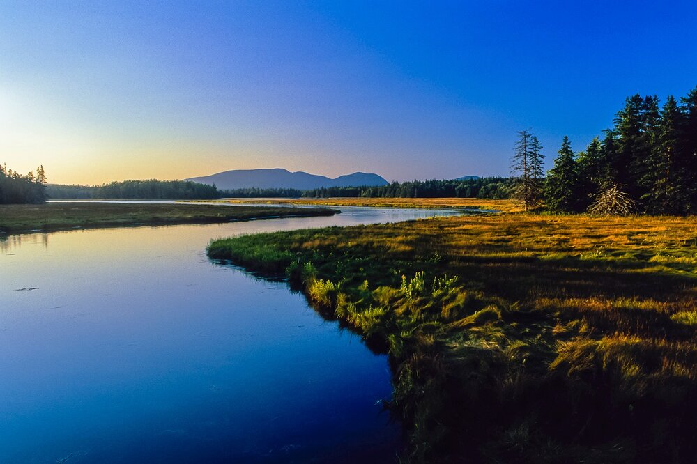 Last Light Over the Western Mountains - Acadia National Park, Maine