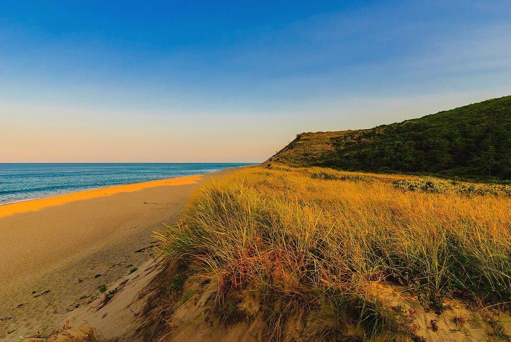 Approaching the Beach at Sunset - Cape Cod national Seashore, Massachusetts.jpg