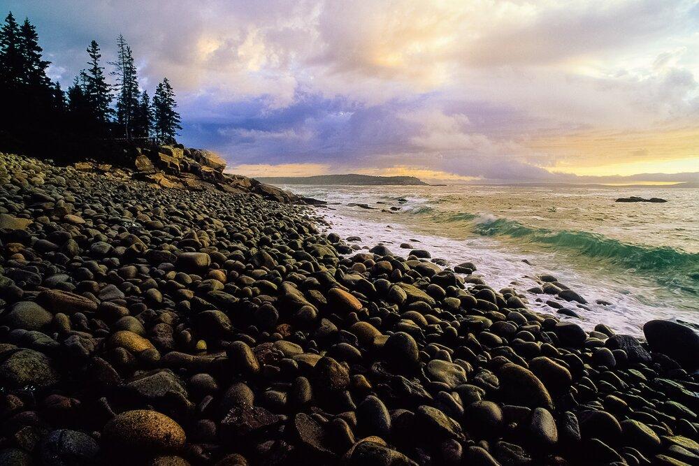 The Lee Shore at Sunrise - Acadia National Park, Maine