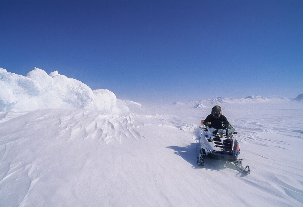 Inuit Hunter on the Sea Ice - Nunatsiavut, Canadian Arctic