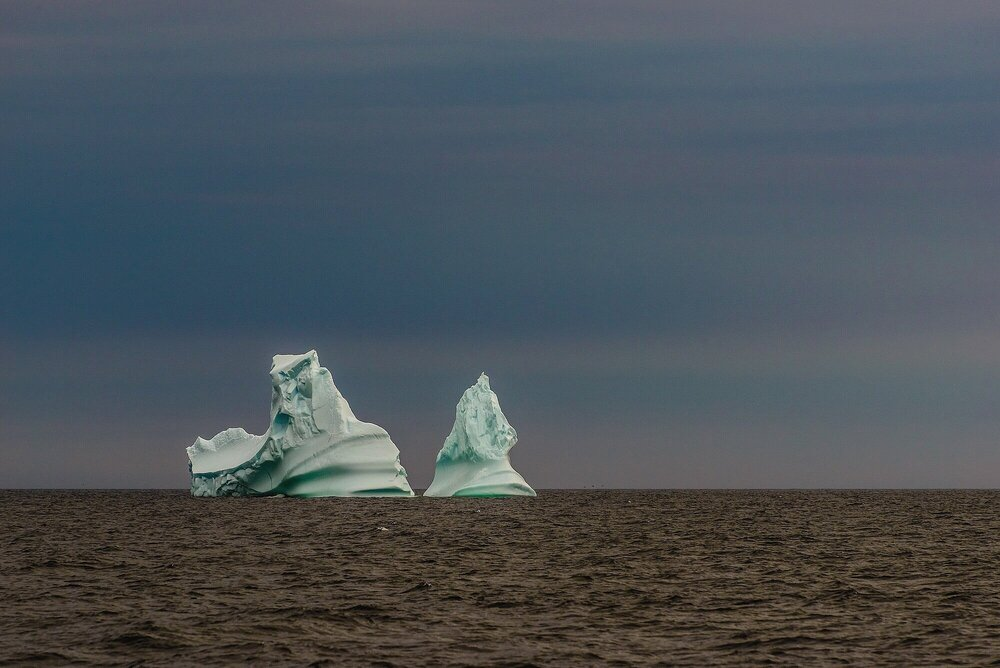 Leaning Ice Towers - Labrador Sea, Canada