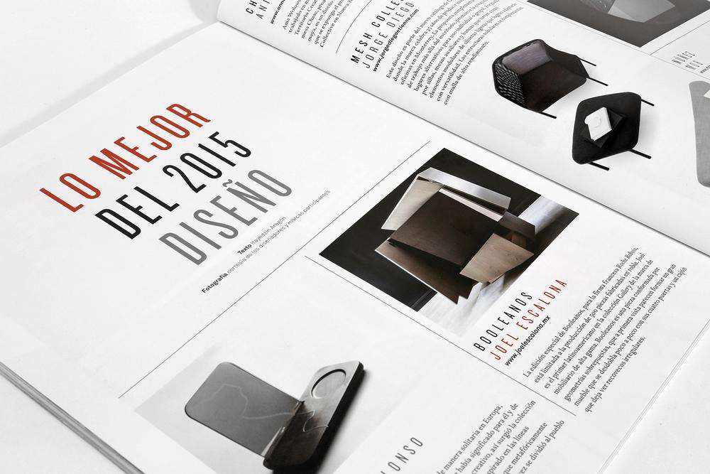 Booleanos en la selección de lo mejor del año por la revista de diseño GLOCAL Dic — 2015
