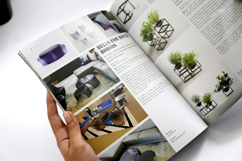 Bells, para Roche Bobois, en Indian Architect & Builder en la edición de julio. Julio — 2016