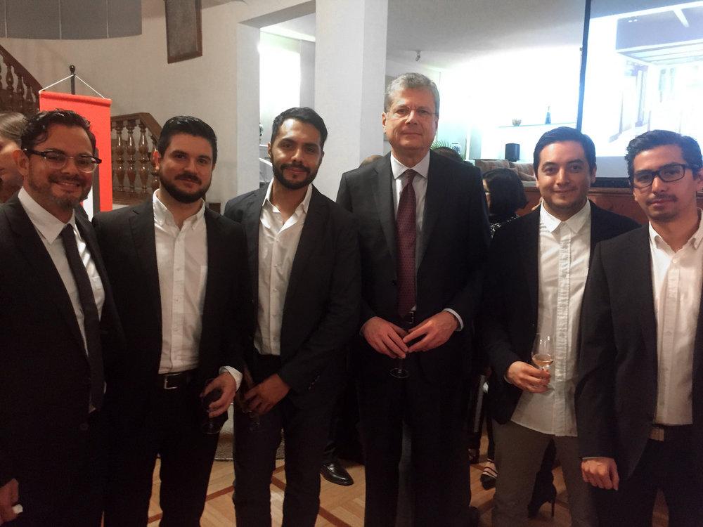Con Alessandro Busacca, embajador de Italia en México.
