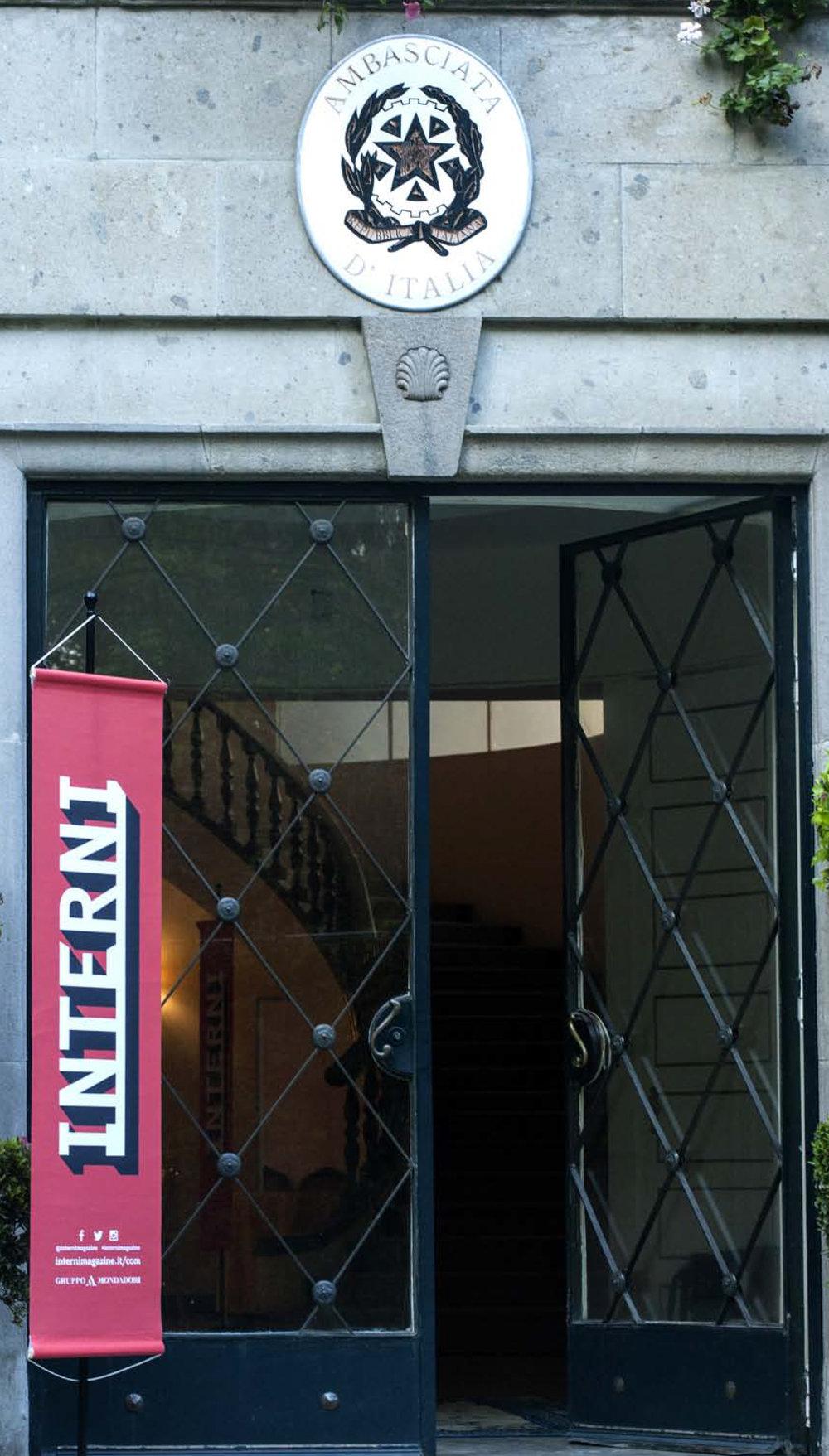 Evento de INTERNI en la Embajada de Italia en México.