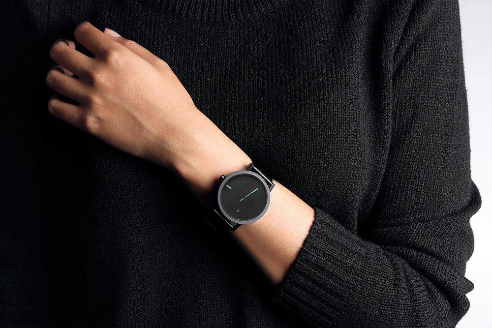 Nuestro diseño Tangency para   Project Watches   es un pequeño espectáculo geométrico.