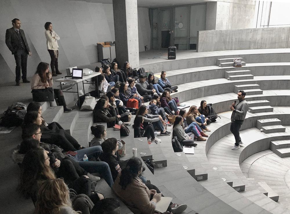 Taller de diseño en la  Universidad de Monterrey