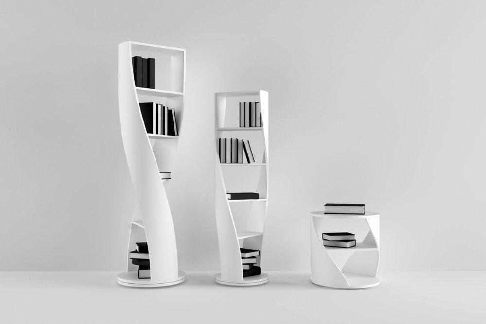 Más que un sistema de almacenaje elegante, MYDNA, una colección para   Nono  , es una declaración metafórica. Inspirado en el concepto del ADN