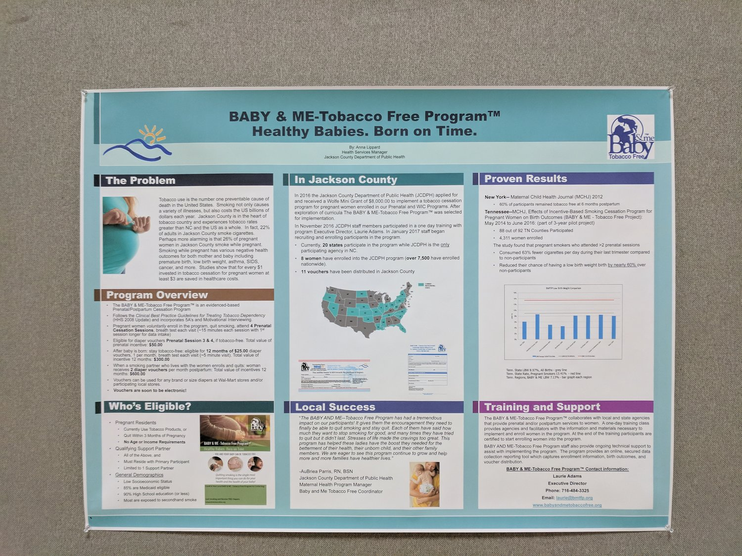 NCPHA Poster Presentation — Jackson County Department of Public Health
