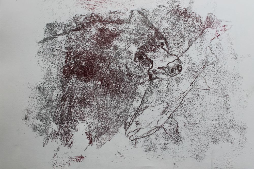 Bear monoprint 2